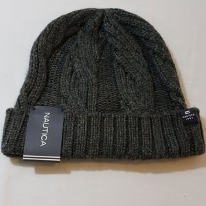 NAUTICA BEANIE COLD WEATHER HAT GREY O/S NWT